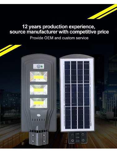 Lampara Solar 60 W Led Iluminacion Luz Blanca Garantia 1