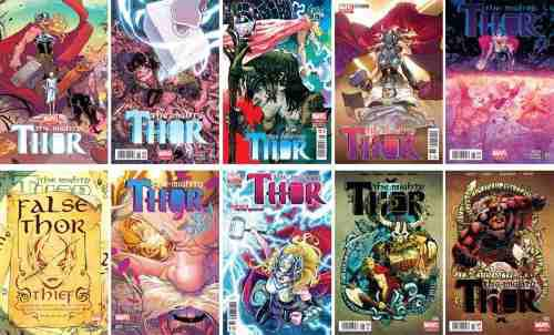 Marvel Comics Mighty Thor 1 2 3 4 5 6 7 8 All New Lady Thor