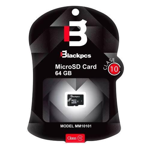 Memoria Micro Sd 64gb Blackpcs Clase 10 Sin Adaptador