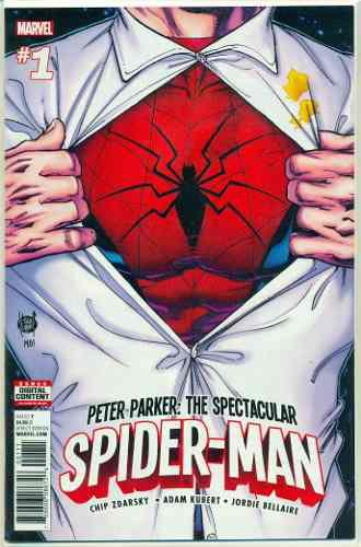 Peter Parker Spiderman 1 Marvel Comics Adam Kubert
