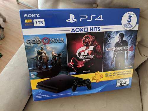 Remato Consola Ps4 Play 4 Slim 1tb 2 Juegos God Of War Uncha