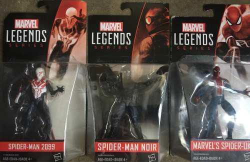 Spiderman Uk + Spiderman Noir + Spiderman 2099 Marvel 3.75