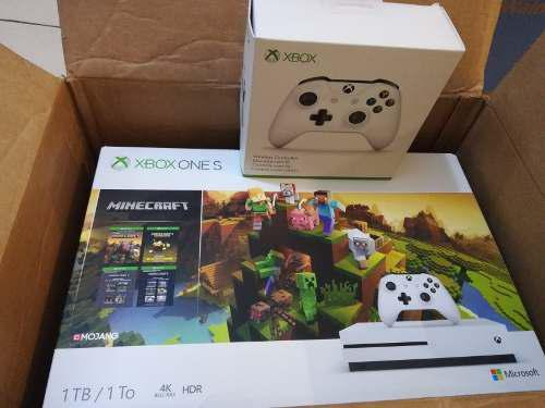Xbox One S 1tb Minecraft Creators Bundle + Control Extra