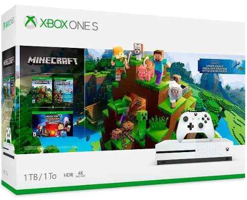 Xbox One S 1tb + Minecraft Trilogia + 1 Mes De Game Pass 4k