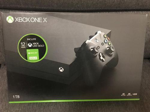 Xbox One X 1tb Con 12 Meses De Xbox Live Gold Nuevo