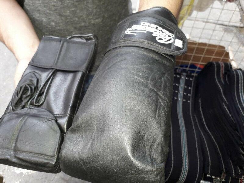 guantaleta de box palomares en piel box o artes marciales