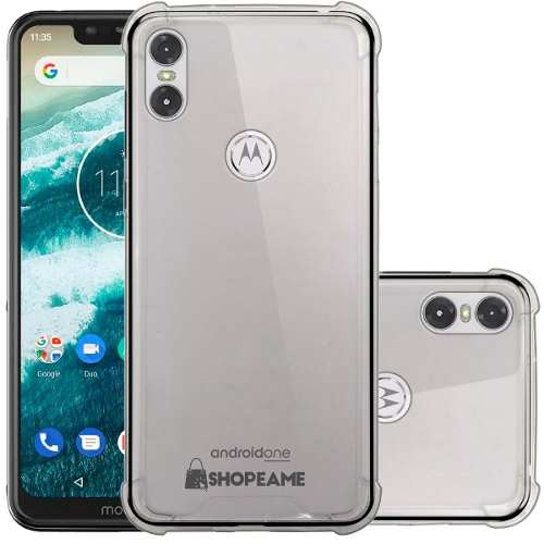 Funda Motorola One P30 Play Case Uso Rudo Transparente + Cri