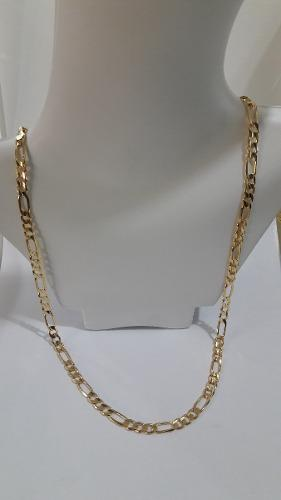 Cadena Oro 10kt Figaro 3x1 27.6gr 60cm X 6.2mm