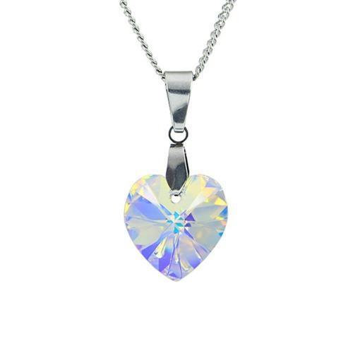 Collar Corazón Swarovski, Plata 925