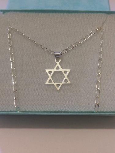 Collar De Estrella De David 1.7 Cm De Plata 925 Envio Gratis