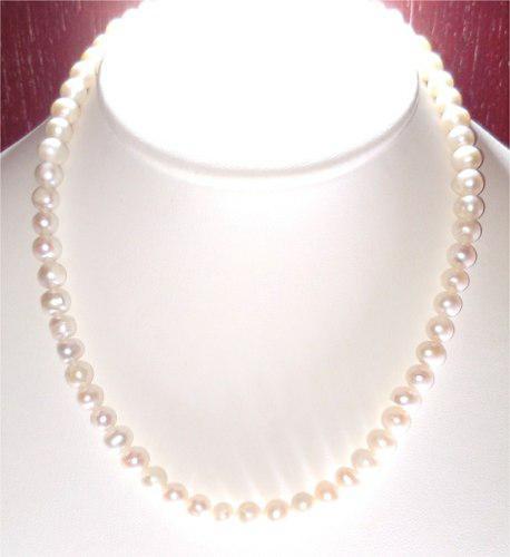 Collar De Perla Cultivada Broche De Oro 14k, A05