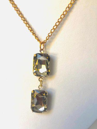 Collar Fino De Cristal Swarovski Elements Remate.