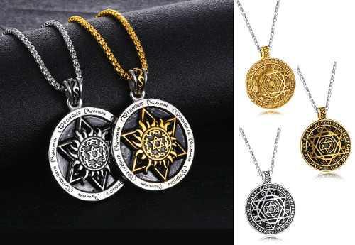 Collar Hexagrama Esotérico Titanio + Cadena + Precio