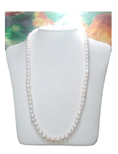 Collar Largo Y Aretes De Perla Cultivada A029