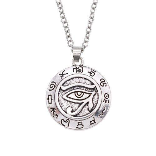 Collar Plateado Metalico Egipcio De Ojo De Horus!