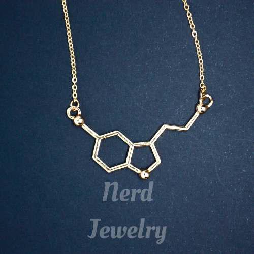 Collar Pulsera Serotonina Quimicos Medicos Ciencia Quimica