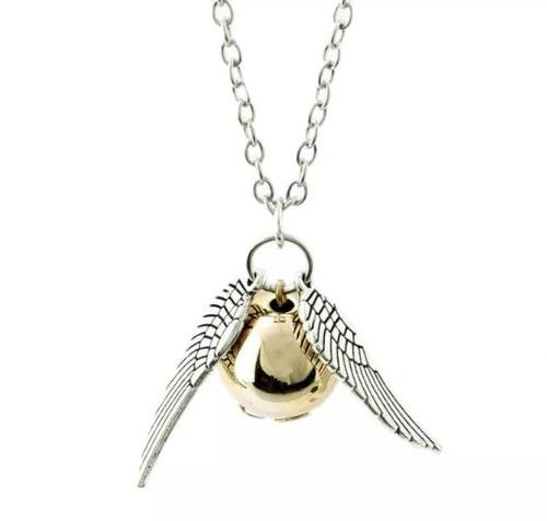 Collar Snitch Harry Potter - Plateado Y Bronce