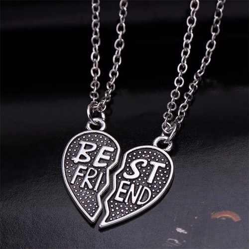 Collar Y Dijes Corazón Best Friends Mejores Amigas Amigo