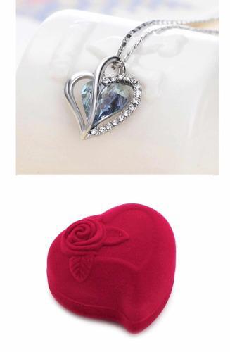 Corazón Cristal Swarovski Collar + Estuche Terciopelo