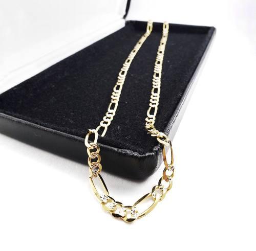 Diamantada Cadena Cartier Oro Sólido 10k 7.2gr & 3.5mm