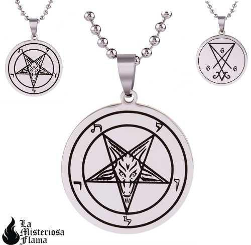 Dije Lucifer Sigilo O Pentagrama Acero Inox Envío Gratis