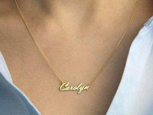 Dije Nombre Oro 10k Con Cadena Cartier