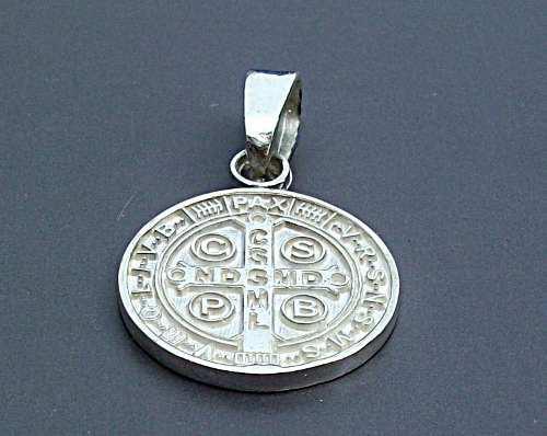 Medalla De San Benito Sterling Silver.925
