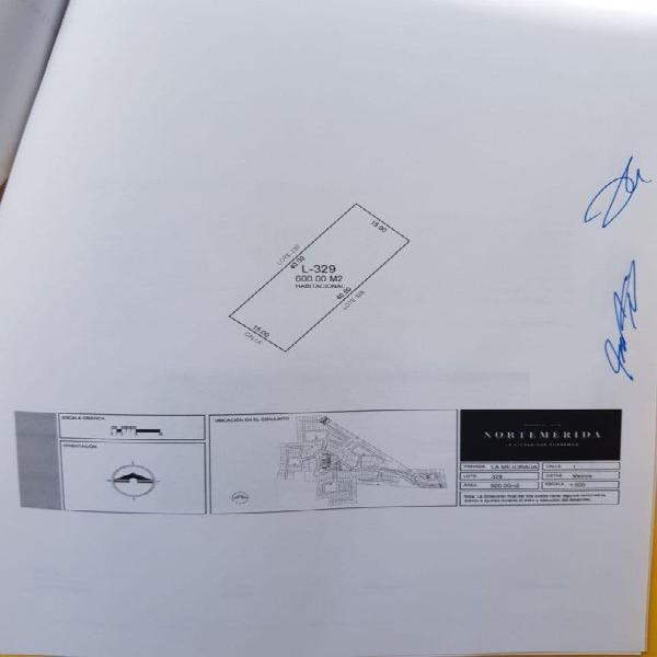OPORTUNIDAD LOTE EN PRIVADA NORTE MERIDA 600 M2 $1,680 MIL