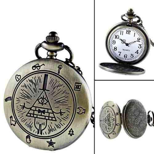Reloj Vintage Gravity Falls Envío Gratis Dhl Bolsillo