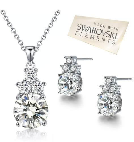 Set Collar Y Aretes Swarovski Elements Envío!