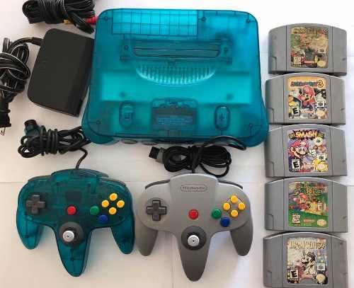 Consola Nintendo 64 Con 5 Juegos Mario