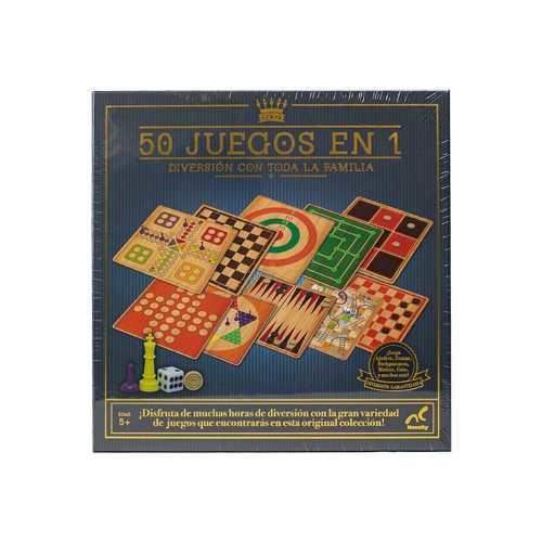 50 Juegos En 1 Novelty Juego Mesa Caja Cartón