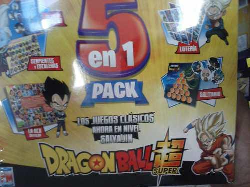 Dragon Ball Super: Pack 5 Juegos De Mesa En 1