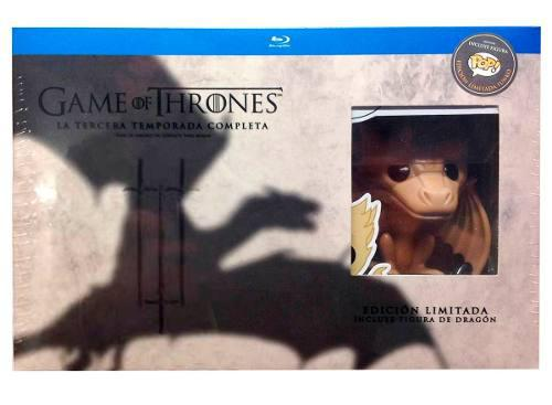 Game Of Thrones Juego De Tronos Temporada 3 Blu-ray + Funko
