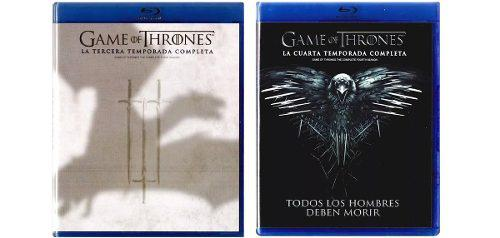 Game Of Thrones Juego Tronos Paquete Temporada 3 Y 4 Blu-ray