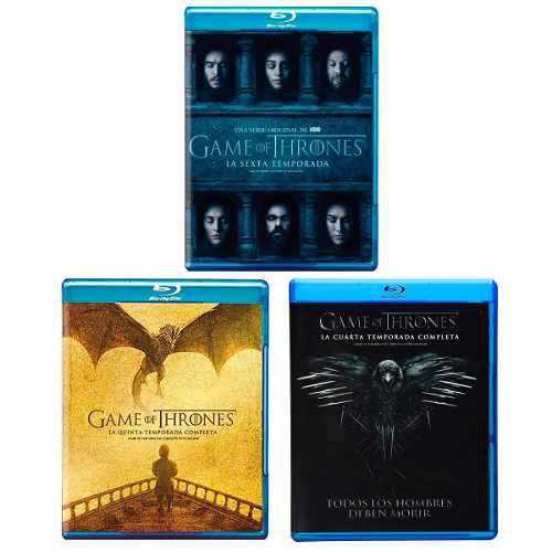 Game Of Thrones Juego Tronos Paquete Temporada 4 5 6 Blu-ray