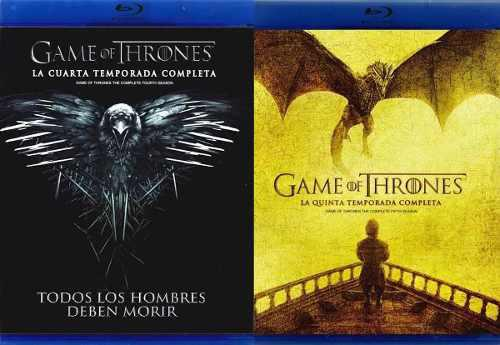 Game Of Thrones Juego Tronos Paquete Temporada 4 Y 5 Blu-ray