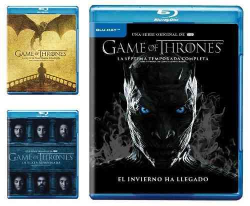 Game Of Thrones Juego Tronos Paquete Temporada 5 6 7 Blu-ray