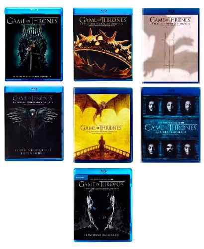 Game Of Thrones Juego Tronos Temporada 1 2 3 4 5 6 7 Blu-ray