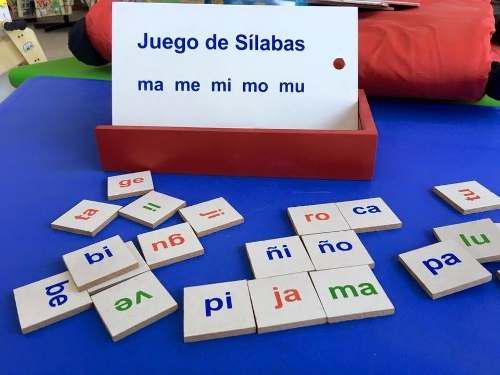 Juego De Sílabas Simples Madera Paquete Con 8. Envío