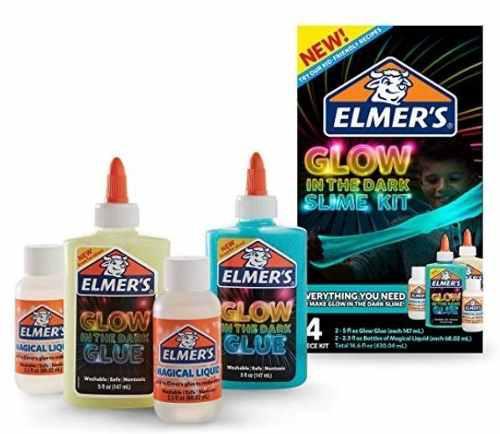 Kit De Slime Elmers Brilla En Oscuridad Con Activador Glow
