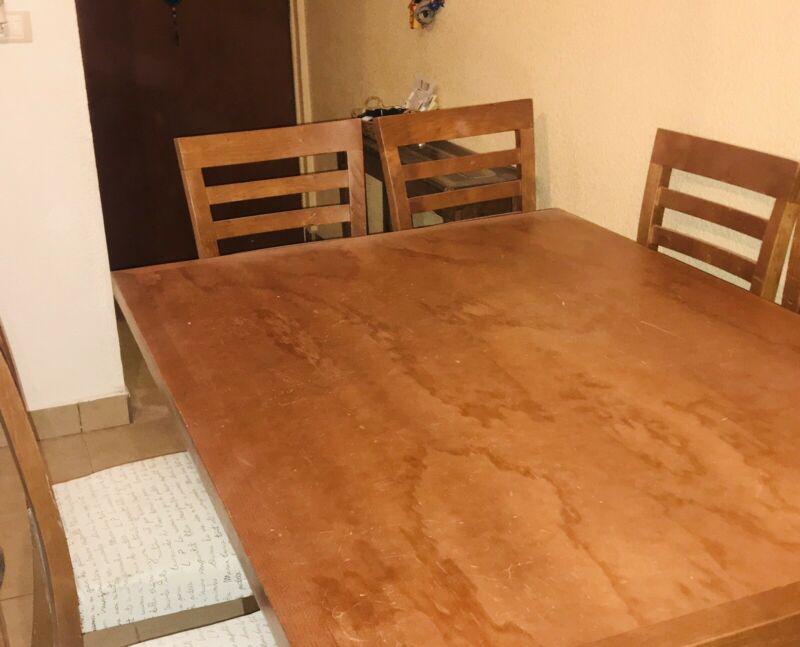 Comedor de Madera, para 6 personas, Usado