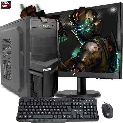 Pc Completa Amd A10 Quad Core 4gb 500gb Monitor 19 +kit