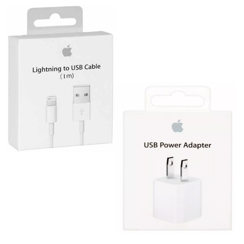 Cable Y Cubo Cargador Apple Original Iphone  X Ipod
