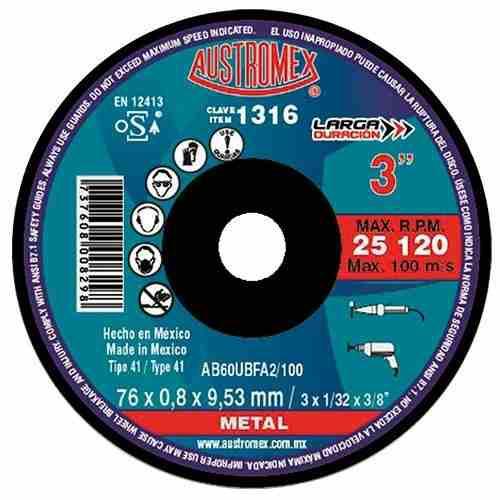 Disco 3 Corte De Metal Para Mototool Austromex 1316