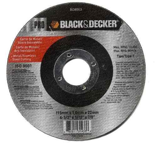 Disco Para Corte De Metal Y Acero In Black And Decker Bd8063