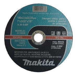 Disco Para Corte Metal 7 X3/32 X7/8 Larga Du Makita D-18328