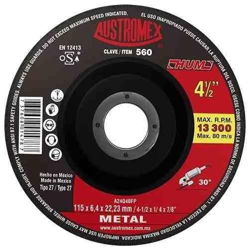 Disco Para Desbaste De Metal 4 1/2 Austromex 560 Cónico