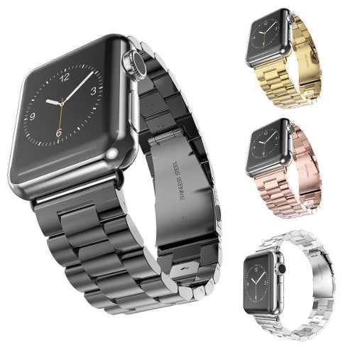 Elegante Extensible De Acero Para Apple Watch Serie