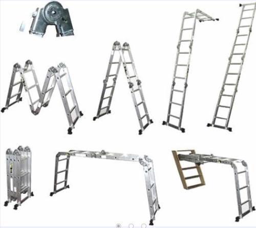 Escalera Plegable De Aluminio Con Placas Tipo Andamio Oferta